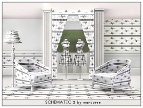 Sims 3 — Schematic 2 _marcorse by marcorse — Geometric pattern: schematic type diagram in black on white
