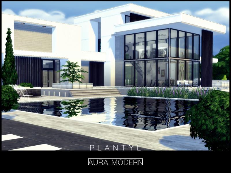 Plantyl 39 s aura modern no cc for Modern house design the sims 4