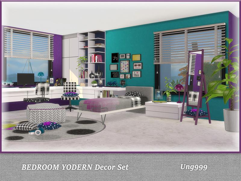 ung999\'s Bedroom Yodern Decor Set