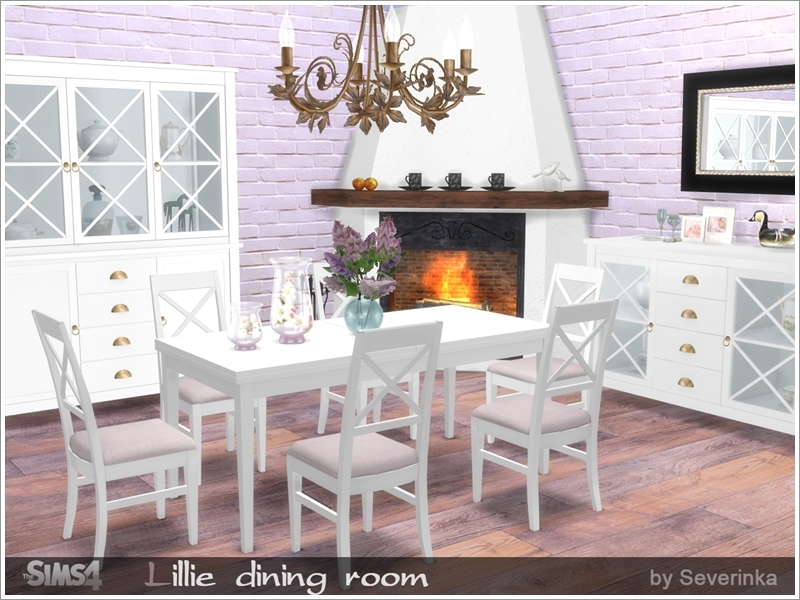 Severinka 39 s lillie dining room for Dining room ideas sims 4