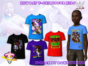 Sims 3 — WWE New Day T-Shirt 5 pack for Kids by Downy Fresh — The New Day! High Quality, officially sold WWE merchandise