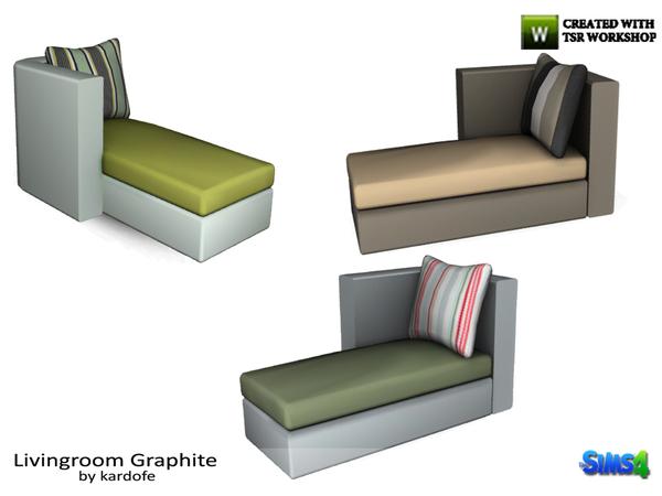 Kardofe livingroom graphite modular sofa chaise longue for Sofa bed sims 4