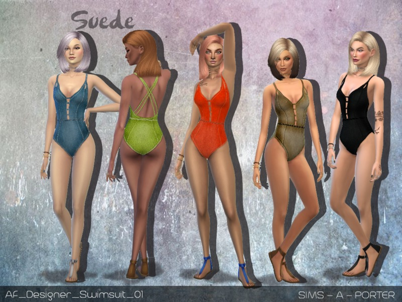 e54d785fdfe Sims_A_Porter's Designer Suede Swimsuit + Glitter Edition