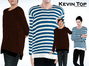 Sims 3 — Kevin Male Top by Nisuki — A big shirt for your boys. There's a female version too. Before you download, please