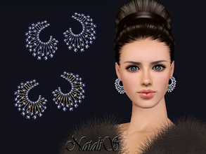 Sims 3 — NataliS TS3 Winter crystals earrings FT-FA by Natalis — Stunning jewelry for the winter holidays. Winter