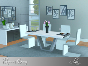 Sims 3 — Elegance Dining by Lulu265 — Elegance Dining is modern and uncluttered in chrome and glass , a wood option has