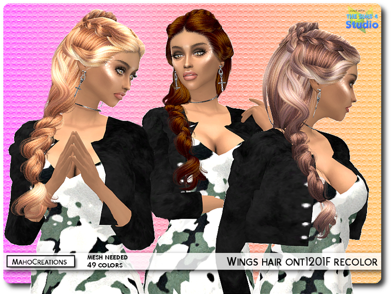 Mahocreations Wings Hair Ont1201f Recolor Mesh Needed