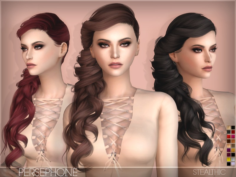 Stealthics Sims 4 Female Hairstyles