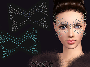 Sims 3 — NataliS TS3 Rhinestone crystal mask FT-FA by Natalis — Fantasy rhinestone crystal mask. 3 colors. TF-FA-YA
