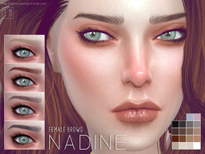 Sims 4 — [ Nadine ] - Female Brows by Screaming_Mustard — A soft and elegant female brow in 18 shades to match any hair