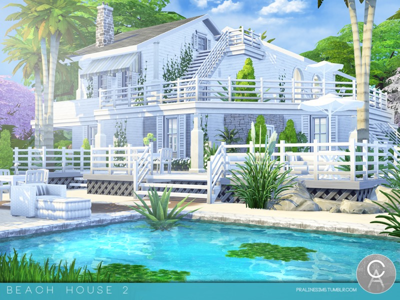 Pralinesims 39 beach house 2 for Pool design sims 3