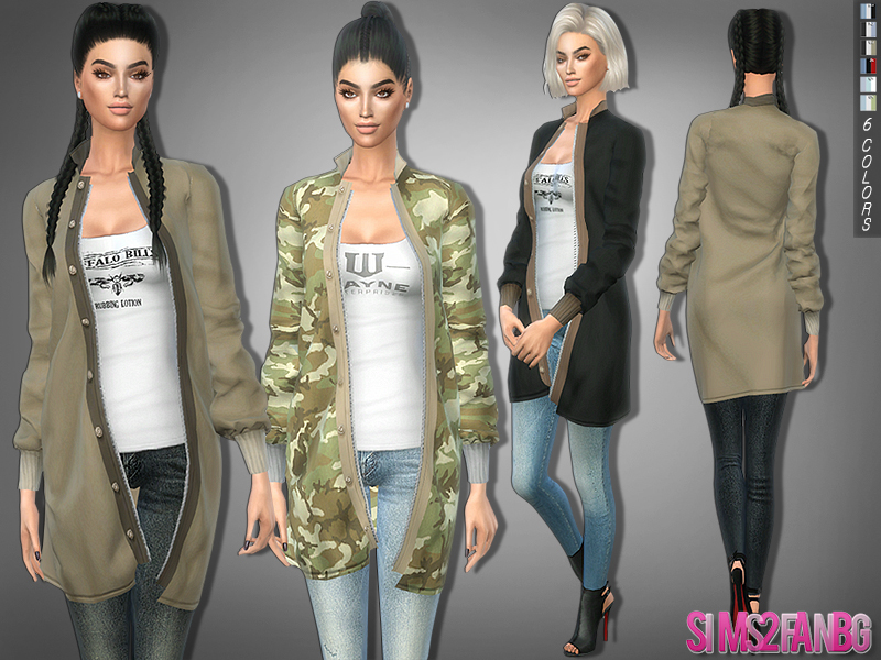 sims2fanbg's 280 - Outfit with coat - UPDATED