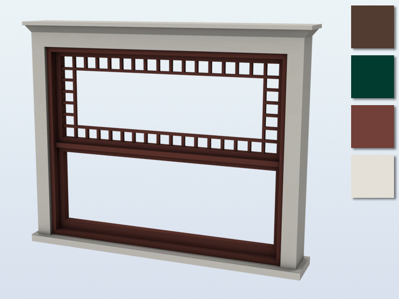 Mutske 39 s queen anne window counter 2x1 for Queen anne windows