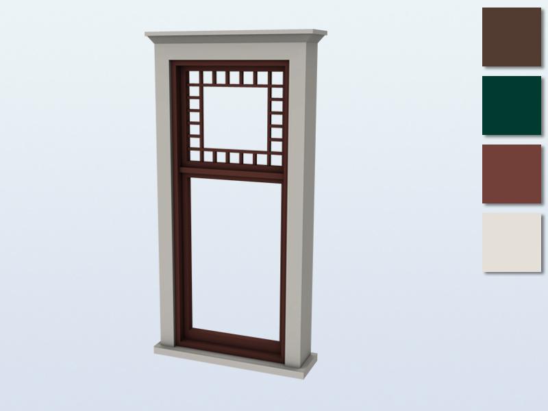 mutske's Queen Anne Window Middle 2x1 Single