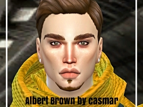 Sims 4 — Albert Brown by casmar — Here I show Albert, a handsome Sims of Renaissance ! This Sims is happy among books!