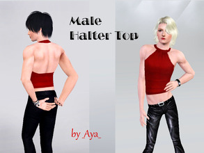 Sims 3 — Male Halter Top by _aya_ — Halter Top redesigned to fit your boys.