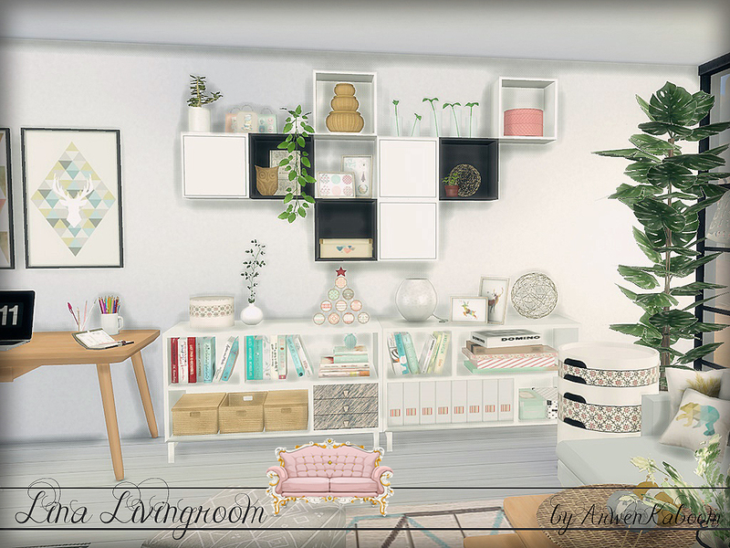 Arwenkaboom 39 s lina livingroom for Modern living room sims 4