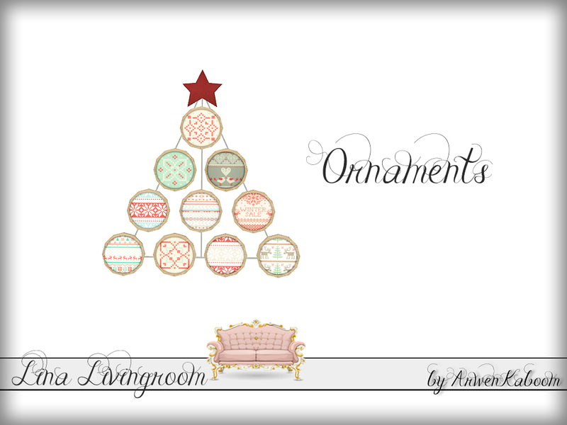 . ArwenKaboom s Lina Livingroom   Ornaments