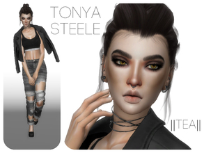Sims 4 — Tonya Steele by _Tea_ — Hello everyone! Here is another sim from me, Tonya Steele! Her traits are Creative,