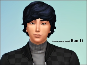 Sims 4 — Ran Li by jeisse197 — Hi! I made a handsome Asian young adult, No Custom Content used/No Sliders/No Skins, Hope