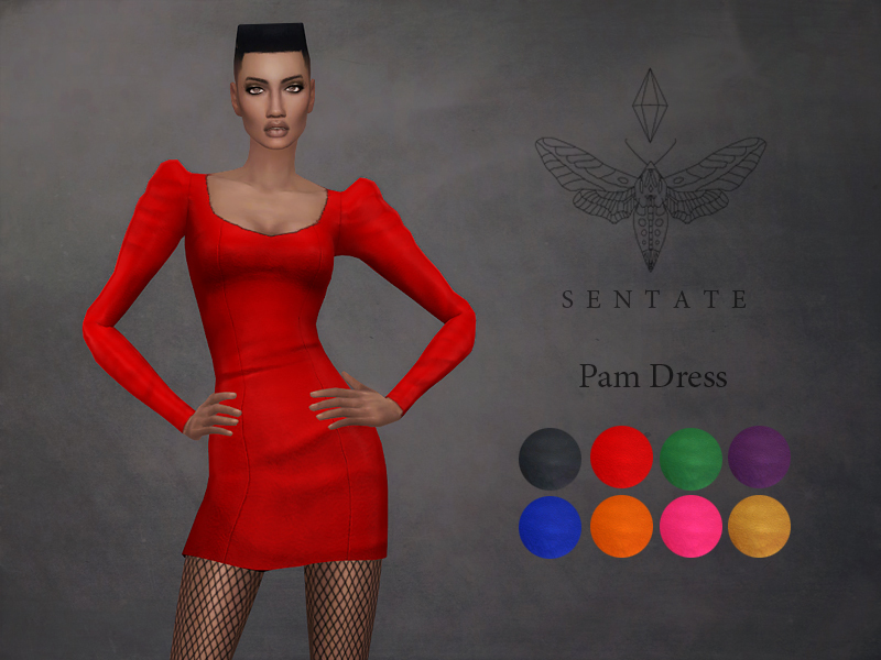 Sims 4 red dress h&m