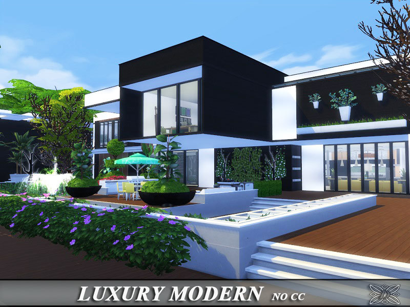 Danuta720 39 s luxury modern for Big modern house sims 4
