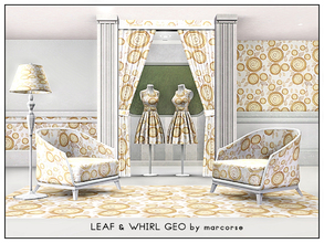 Sims 3 — Leaf & Whirl Geo_marcorse by marcorse — Geometric pattern: random repeat design of leaves and whirlpool