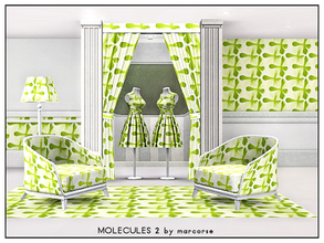 Sims 3 — Molecules 2_marcorse by marcorse — Geometric pattern: molecule shapes in yellowy green