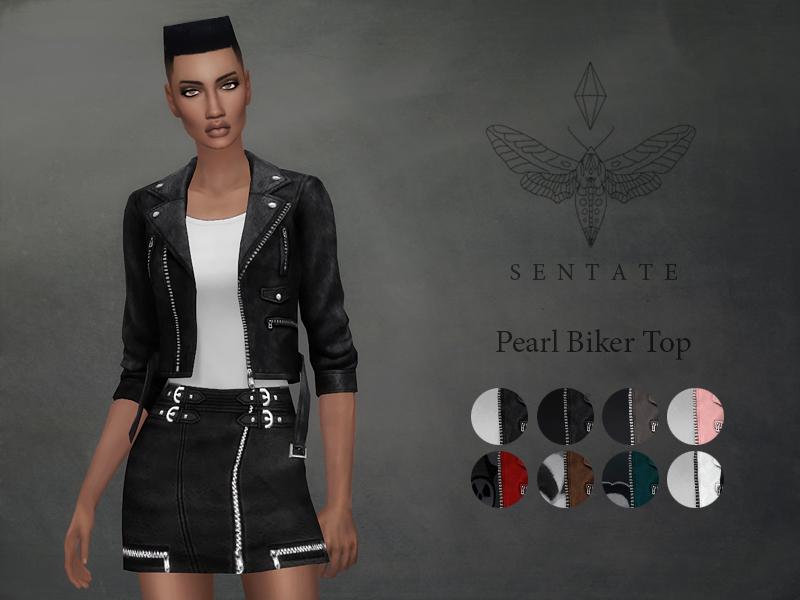 Flannel Motorcycle Jacket >> Sentate's Pearl Biker Jacket