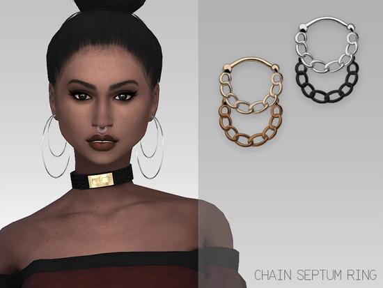 Grafitysims Chain Septum Ring