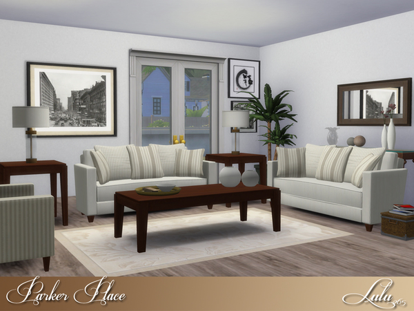 Lulu265 39 s parker place living for Living room ideas sims 3