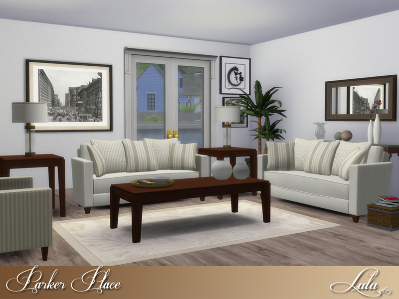 Lulu265 39 s parker place living for Modern living room sims 4