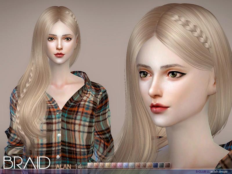 S Club S Sclub Ts4 Hair Helen Braid