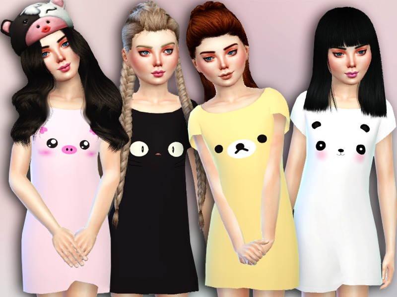 5e86c3a49 Simlark s Sims 4 Female Child Sleepwear