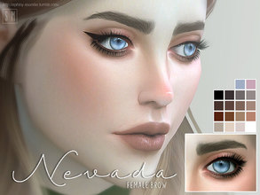 Sims 4 — [ Nevada ] - Female Brows by Screaming_Mustard — A set of full modern female brows. For females, child +. With