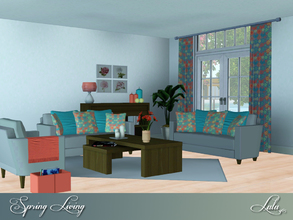 Sims 3 — Spring Living  by Lulu265 — Nothing says springtime like flowers and sunshine, . Citrusy accessories, warm wood