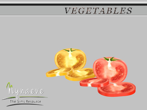 Sims 3 — Tomato (half) by NynaeveDesign — Vegetables - Tomato (half) Located in: Decor - Miscellaneous Decor Price: 54