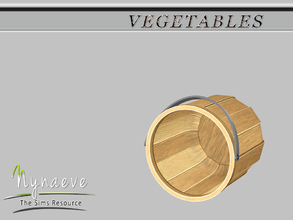 Sims 3 — Vegetable Bucket by NynaeveDesign — Vegetables - Vegetable Bucket Located in: Decor - Miscellaneous Decor Price: