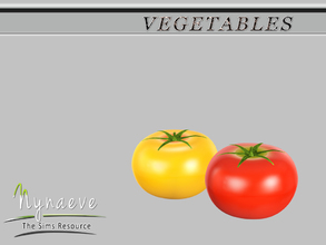 Sims 3 — Tomato by NynaeveDesign — Vegetables - Tomato Located in: Decor - Miscellaneous Decor Price: 54 Tiles: 0.5x0.5