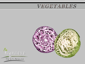 Sims 3 — Cabbage (half) by NynaeveDesign — Vegetables - Cabbage (half) Located in: Decor - Miscellaneous Decor Price: 54