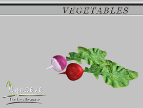 Sims 3 — Radish by NynaeveDesign — Vegetables - Radish Located in: Decor - Miscellaneous Decor Price: 54 Tiles: 0.5x0.5