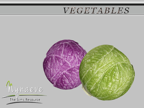 Sims 3 — Cabbage by NynaeveDesign — Vegetables - Cabbage Located in: Decor - Miscellaneous Decor Price: 54 Tiles: 0.5x0.5