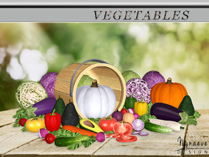 Sims 3 — Vegetables by NynaeveDesign — Feed the imagination of your sims with this colorful vegetable set. Set includes: