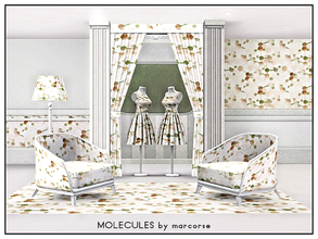 Sims 3 — Molecules_marcorse by marcorse — Geometric pattern: DNA molecules in tan, pink and green
