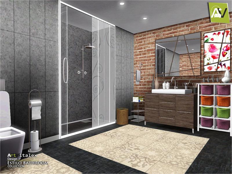 Artvitalex 39 s estilo bathroom for Bathroom ideas sims 3