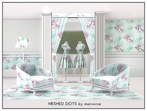 Sims 3 — Meshed Dots_marcorse by marcorse — Geometric pattern: abstract design of meshed dots in purple, green and soft