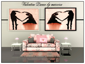 Sims 3 — Valentines Dance_marcorse by marcorse — Valentine dancers forming heart silhouette with hands and arms. 2 mirror