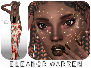 Sims 4 — Eleanor Warren by _Tea_ — Hello everyone! I'm back with another sim... Eleanor Warren! -Her traits: Genuis,