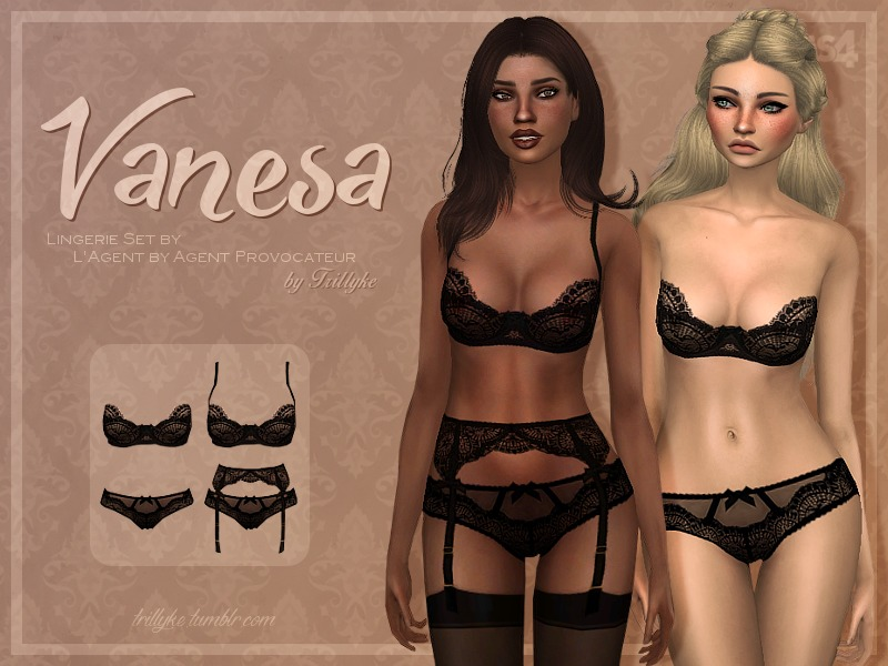 4ff143a140058 Trillyke - Black Lingerie Collection (Vanesa and Sally)