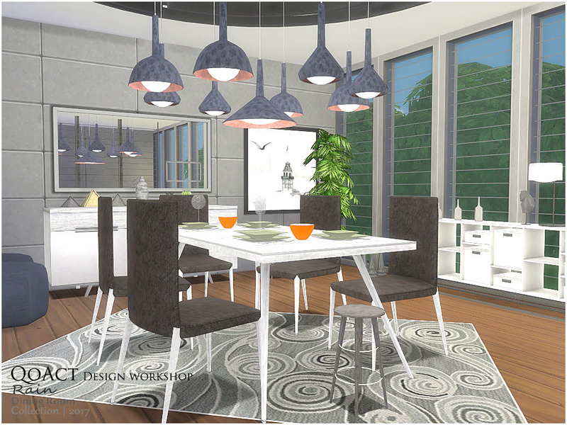 ... Qoact 39 S Rain Dining Room For Dining Room Ideas Sims 4 ...